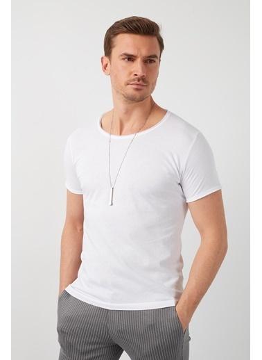 Buratti Buratti Basic Erkek T-Shirt 5412008 Beyaz